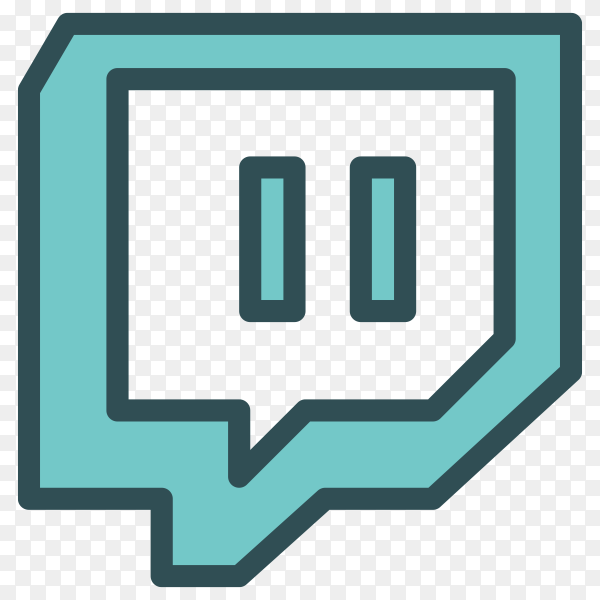 Illustration of Twitch icon on transparent background PNG
