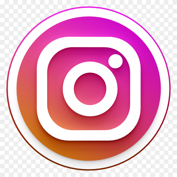 Instagram icon illustration on transparent background PNG