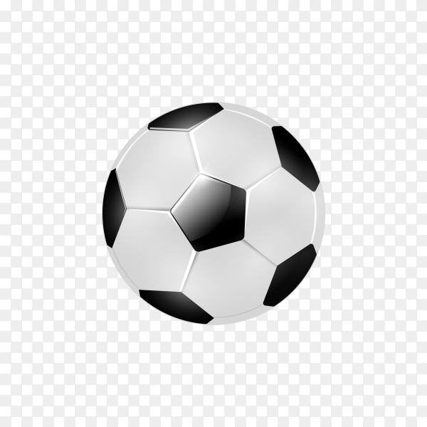 Isolated realistic soccer ball on transparent background PNG