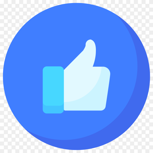 Like icon isolated on transparent background PNG