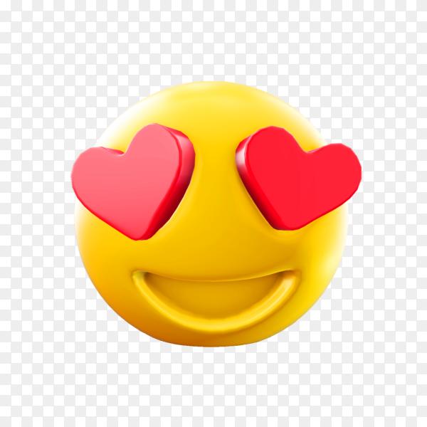 Love emoji illustration on transparent background PNG