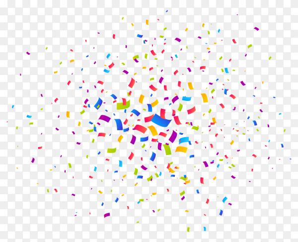 Multicolor confetti burst Premium Vector PNG