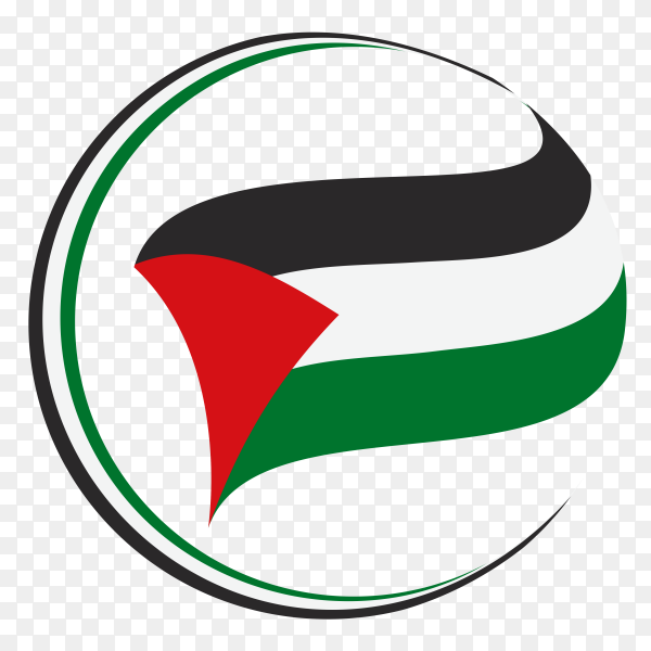 National flag of Palestine premium vector PNG