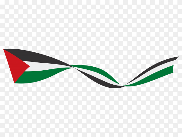 Palestine fabric flag on transparent background PNG