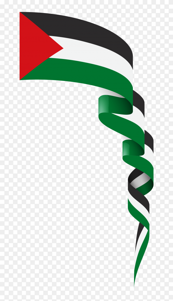 Palestine fabric flag premium vector PNG