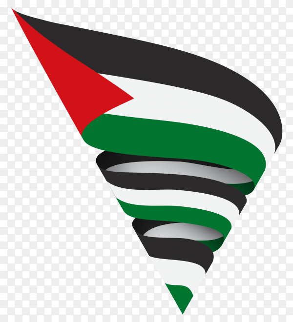 Palestine flag isolated on transparent background PNG