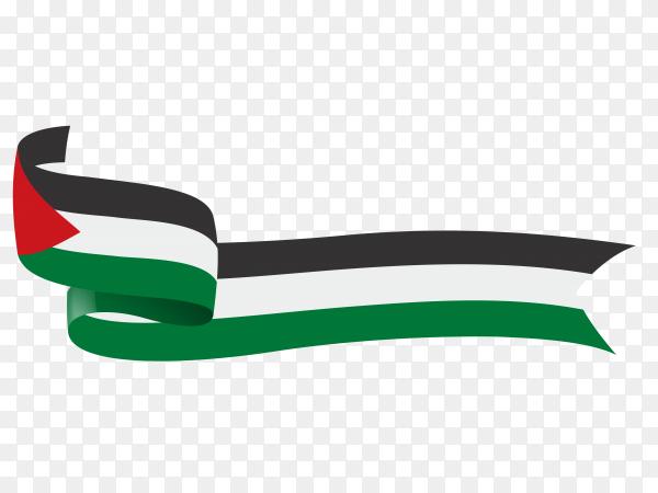 Palestine flag on transparent background PNG