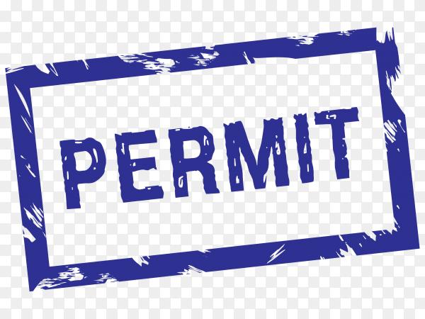 Permit stamp illustration on transparent background PNG