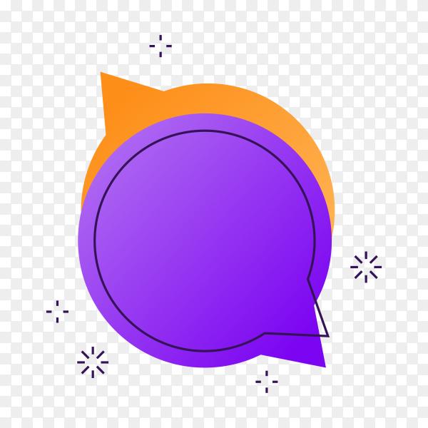 Purple Cashback label on transparent background PNG