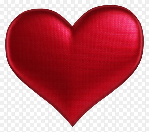 Red heart isolated on transparent background PNG