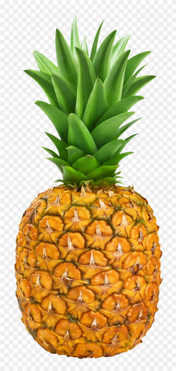 Ripe pineapple isolated on transparent background PNG