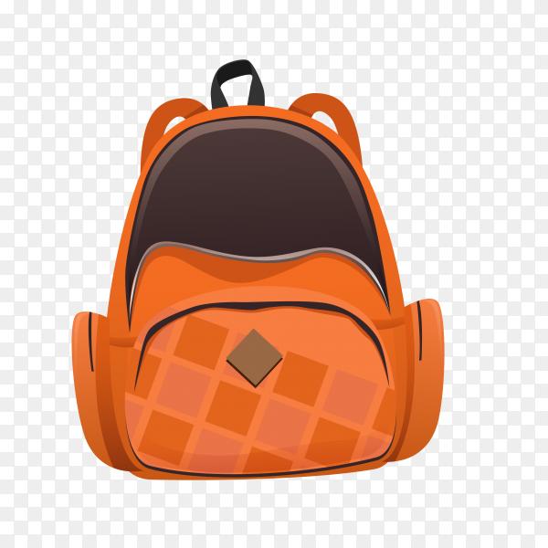 School backpack on transparent background PNG
