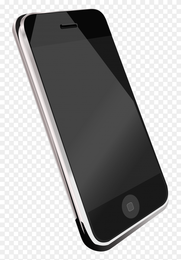 Smartphone isolated on transparent background PNG