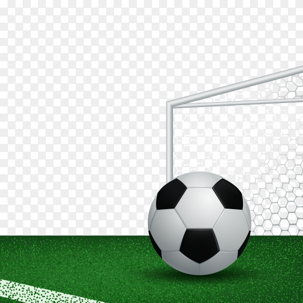 Soccer ball on stadium on transparent background PNG