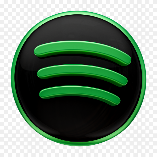 Spotify Icon design on transparent background PNG