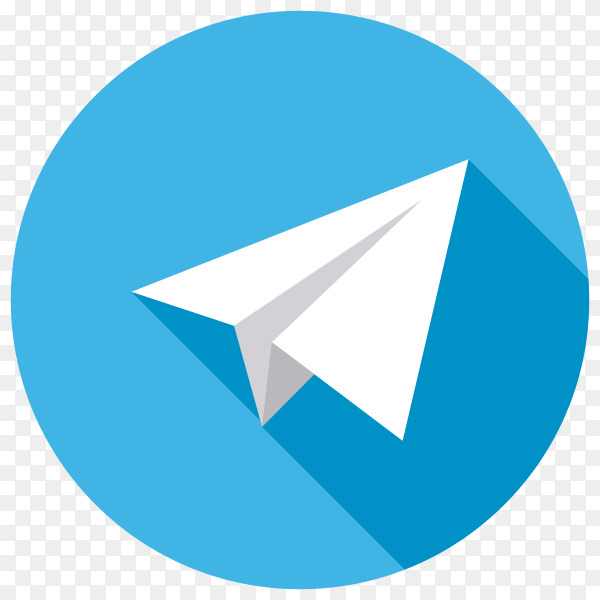 Telegram icon isolated on transparent background PNG