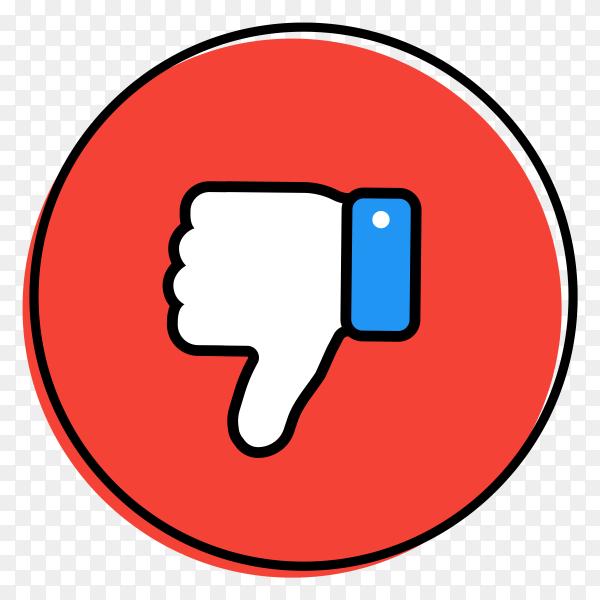 Unlike icon illustration on transparent background PNG