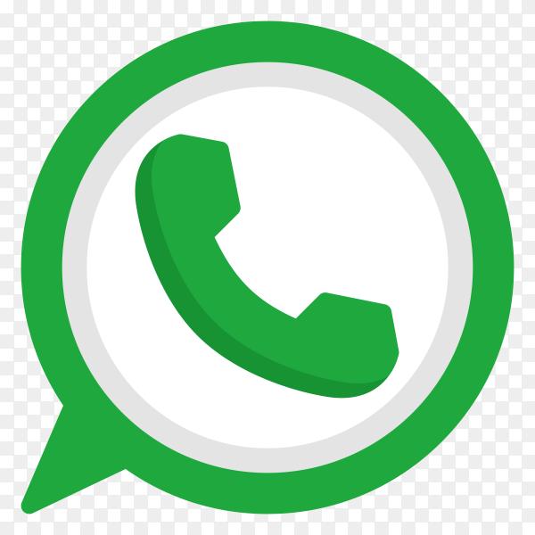 Whatsapp icon design premium vector PNG