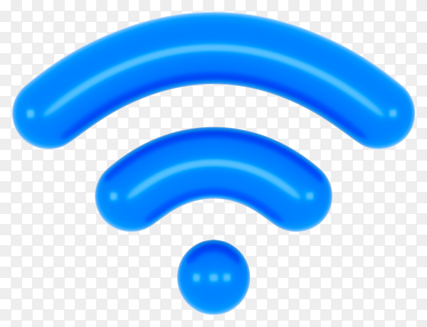 Wifi icon on transparent background PNG