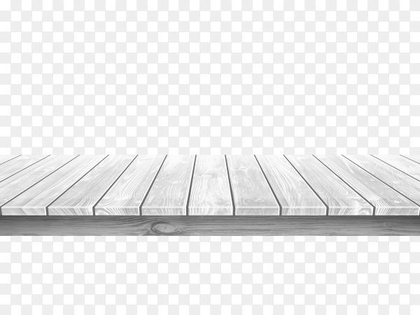 Wooden gray table top with aged surface on transparent background PNG