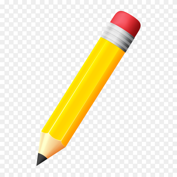 Writing pencil design on transparent background PNG