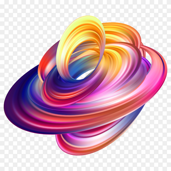 Abstract colorful fluid background premium vector PNG