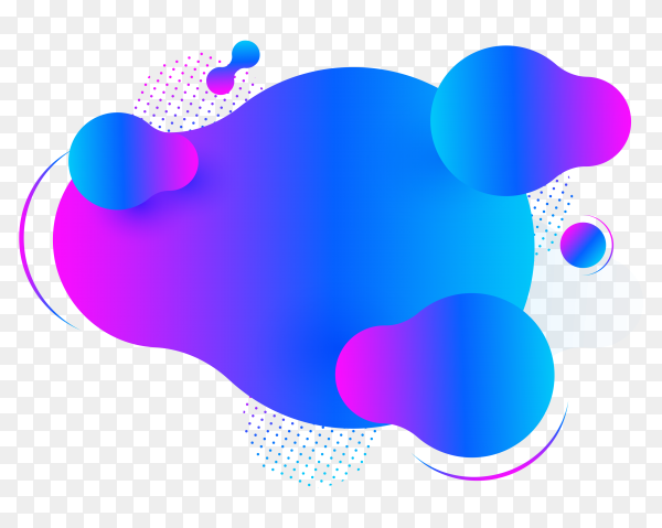 Abstract form of fluid. liquid design on transparent background PNG