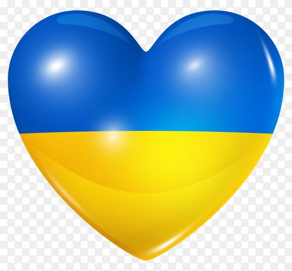 Ukraine Flag In Heart Shape On Transparent Background Png Similar Png