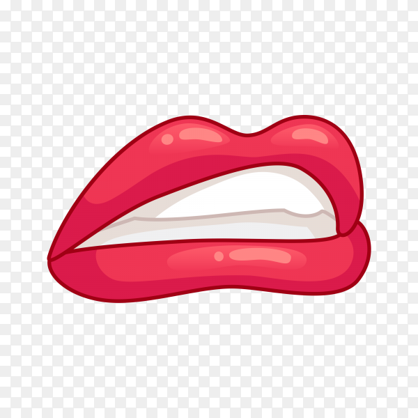 Beautiful woman lips isolated premium vector PNG