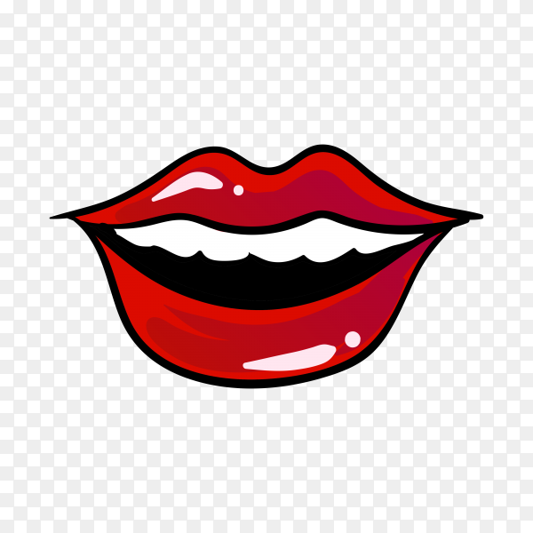 Beautiful women lips on transparent background PNG