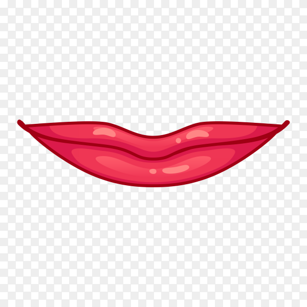 Female lips icon on transparent background PNG