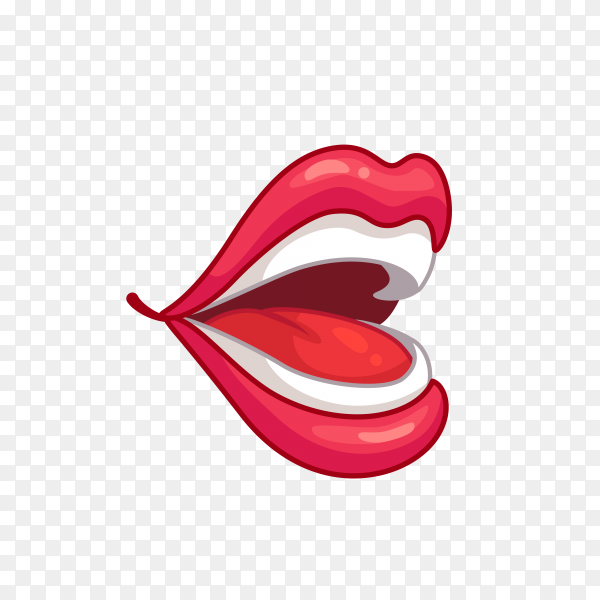 Lip Mouth Drawing on transparent background PNG