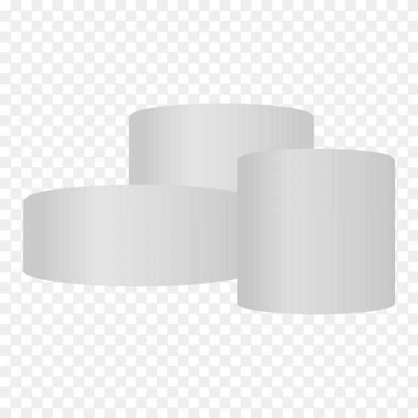 3D white podium illustration on transparent background PNG
