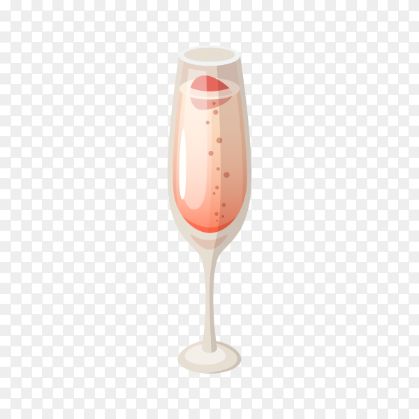 A cup of Champagne on transparent background PNG