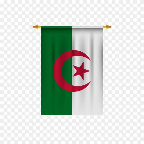 Algeria flag illustration on transparent background PNG