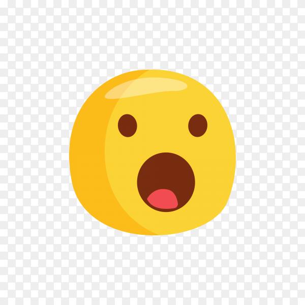 Astonished Face Emoji Premium vector PNG