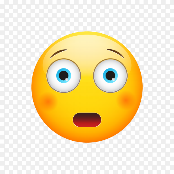 Astonished Face Emoji on transparent background PNG