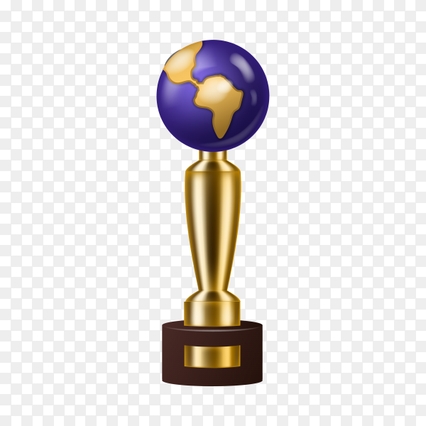 Award trophy winner prize golden trophy cup for award-winning champion with reward for victory on competition illustration on transparent background PNG