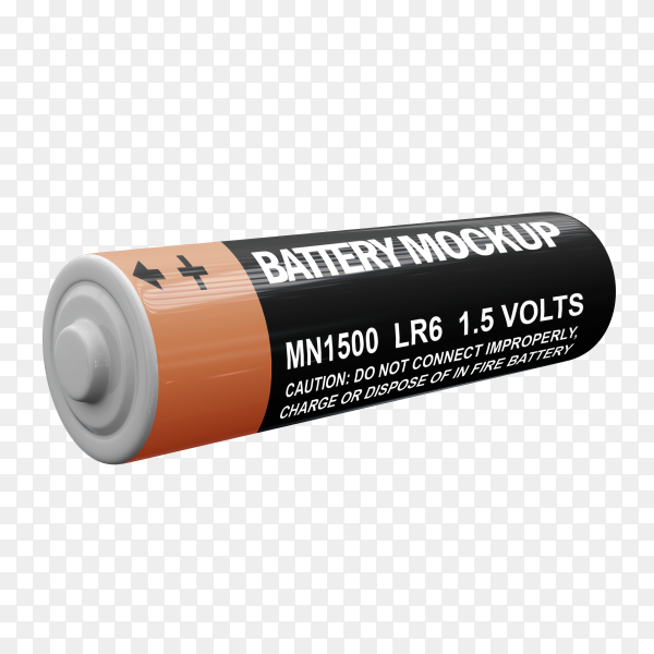 Battery mockup premium vector PNG