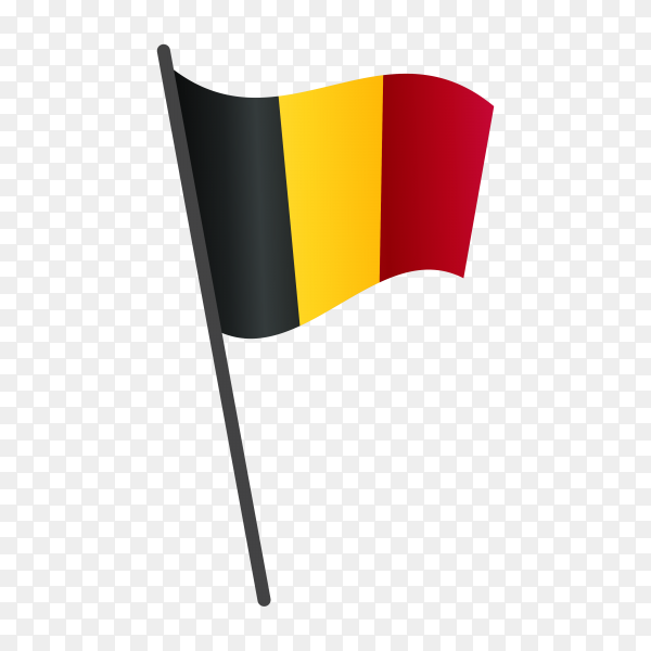 Belgium flag on transparent background PNG