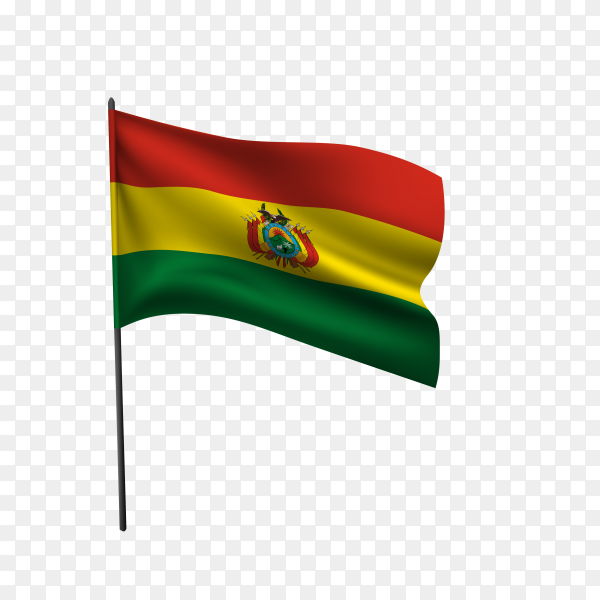 Bolivian flag isolated on transparent background PNG