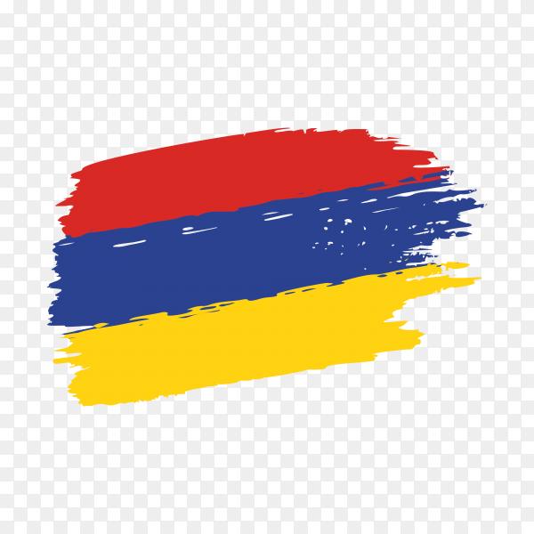 Brush stroke Armenia flag on transparent background PNG