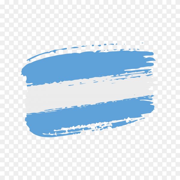 Brush stroke El Salvador flag on transparent background PNG