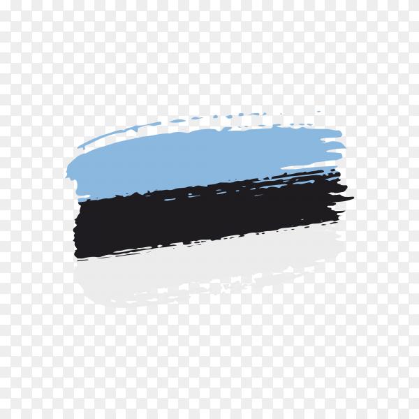Brush stroke Estonia flag on transparent background PNG