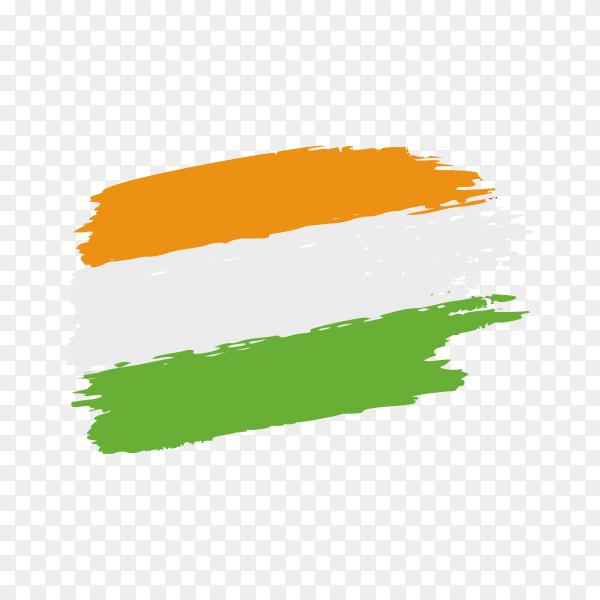 Brush stroke Indian flag on transparent background PNG