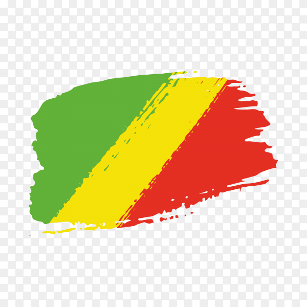 Brush stroke Mali flag on transparent background PNG
