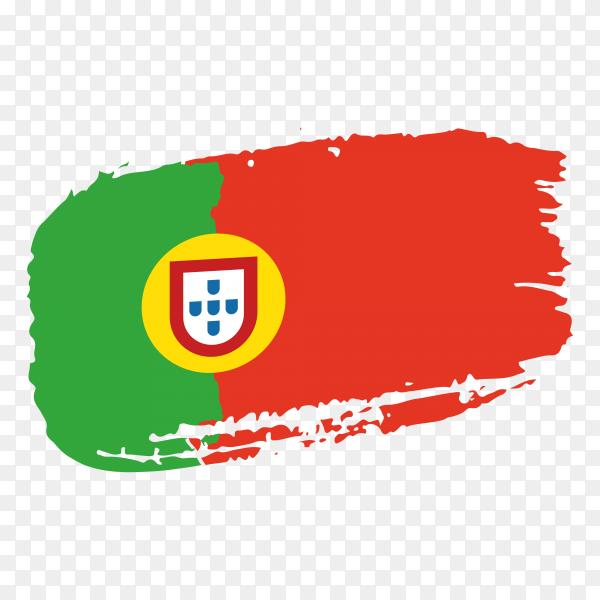Brush stroke Portugal flag on transparent background PNG