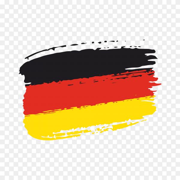 Brush stroke flag of Germany on transparent background PNG