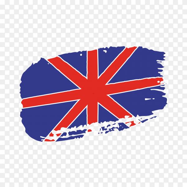 Brush stroke flag of united kingdom on transparent background PNG