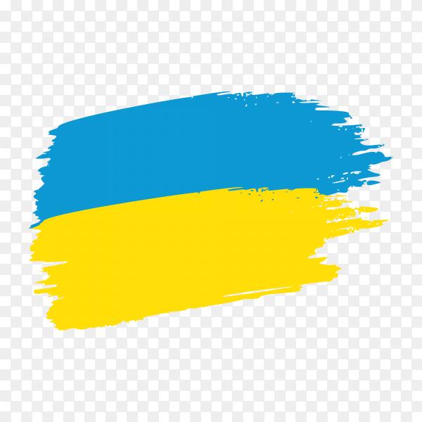 Brush stroke Ukraine flag on transparent background PNG